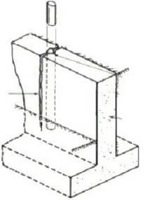 Xử lý vết nứt bê tông bằng cách khoan và cắm